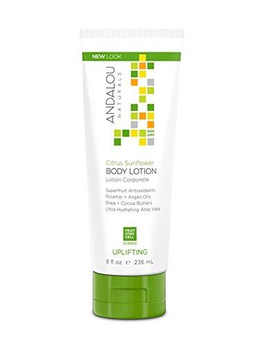 Andalou Naturals, Citrus Sunflower Uplifting Body Lotion, 8 Fluid - Aqua Essential Shampoo Oils