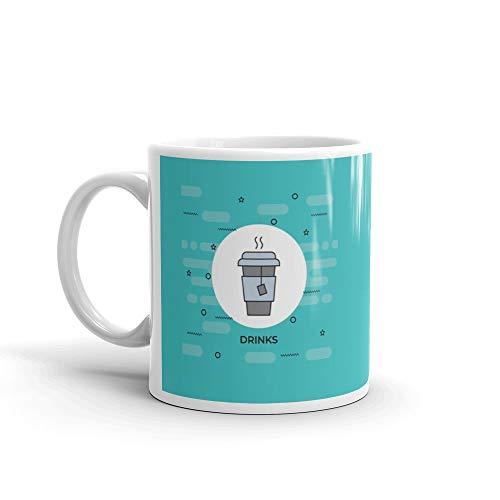 Bottle Cafe Shop (Juice Cup Line Icon Sign Mug 11 Oz Ceramic)
