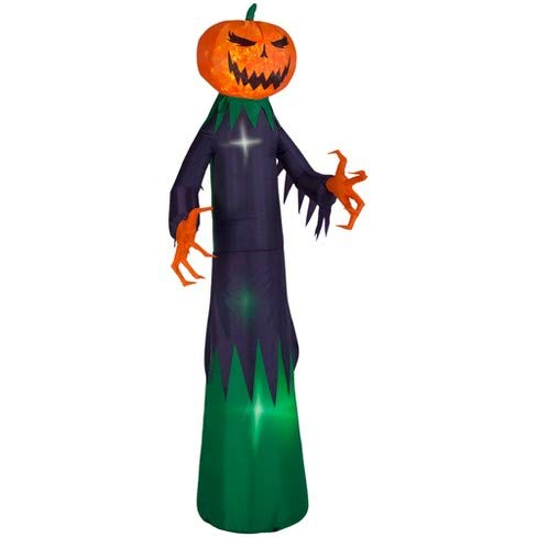 Gemmy 9 Foot Tall Fire & Ice Swirling Light Pumpkin Reaper Halloween Airblown Inflatable for $<!--$69.99-->