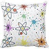 Price comparison product image Retro Atomic Home Decor Pillowcases decorative pillow covers 18x18