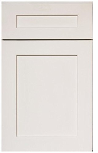 J&K Cabinetry, Solid Wood RTA Cabinet Sample Door, Shaker White Maple(S8)