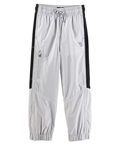 OshKosh B'gosh Baby Boys' Mesh Lined Track Pants - Grey/Black Stripe (12 Months)
