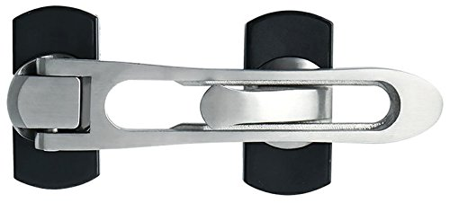 Alise MS665 Swing Bar Security Door Guard Safety Door Lock,Brushed Finish ()