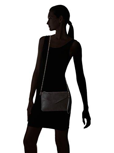 CAPITAL B Clutch CBFW15W10001 cuero de ternero femenino y sencillo Mujer Negro