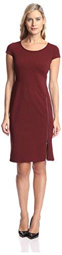Zip Detail Sheath Dress - 2