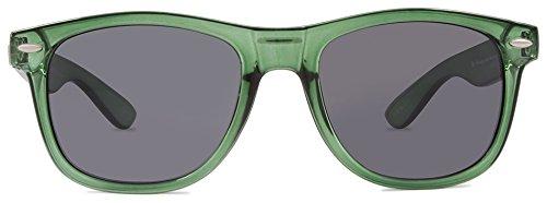 KREEDOM Nostalgic Sunglasses, Gloss Crystal Green, One ()
