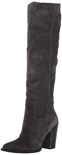 Dolce Vita Women's Kylar Knee High Boot, Anthracite Suede, 8.5 M US (Best Tall Boots For Large Calves)