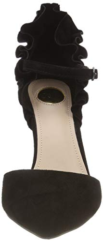 Black Suede Taffy 00 01 Ankle Buffalo Women's Black Sandals Strap RqfA0fn
