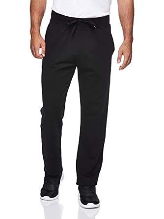 BodyTalk Men's Straight Cut Sweatpants, Black, 2X-Large