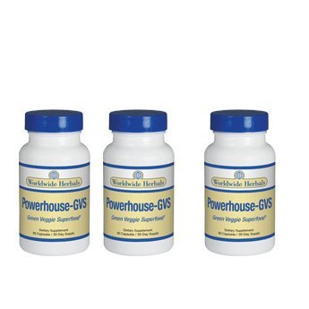 Powerhouse-GVS - 3 bottles (3) by Worldwide Herbals