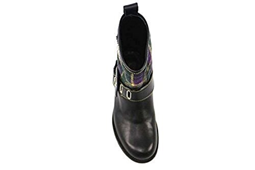 Ankle Black Boots Textile AN45 Braccialini 6 B 36 Purple EU US Leather xwzxIqAXY