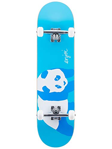 Enjoi Blue Panda Resin Soft Wheel,Complete Skateboard,Neon Blue,31.3