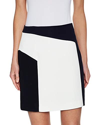 - Kimora Lee Simmons Womens Crepe Colorblocked Mini Skirt, 8