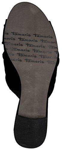 Tamaris 1-1-27219-38/001 - Zuecos de Lona para mujer negro