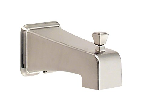 Danze Nickel Tub - Danze DA523415BN Logan Square/Reef Wall Mount Tub Spout with Diverter, Brushed Nickel