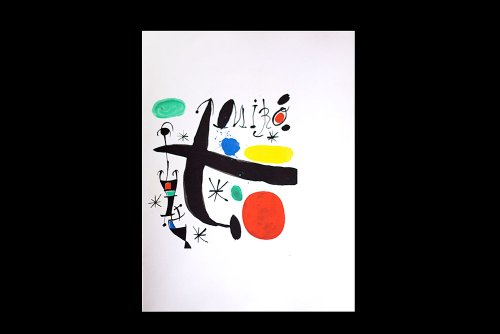 modernnow.com Joan Miro (1893-1983) Original LTD. Lithograph in Color | Signed as Artwork | Numbered Limited Edition n186; 188 | Guarro Paper | Cat. ref: Cramer C123 -