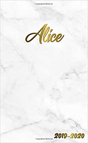 Alice 2019-2020: Pretty Personal Marble & Gold Two-Year ...