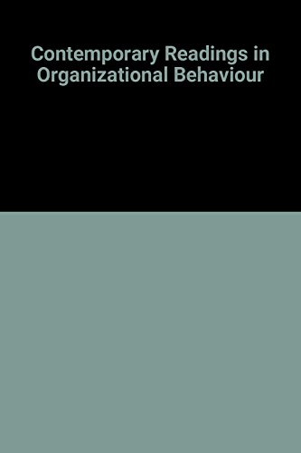 Contemporary readings in organizational behavior (McGraw-Hill series in management)