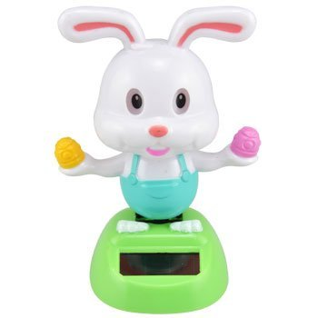 [Solar-powered Dancing Easter Bunny with Eggs] (Bunny Window)