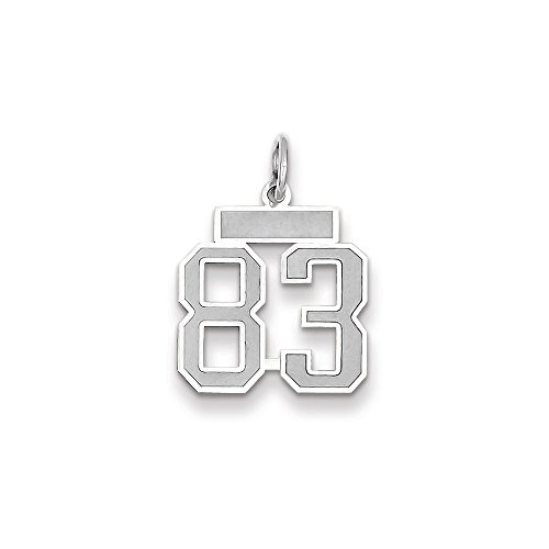 (14k WG Small Satin Number 83 Charm)