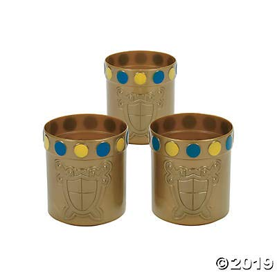 Knight Party Mugs with Jewel Rim (set of 12) Royal and Princess themed party supplies: Toys & Games
