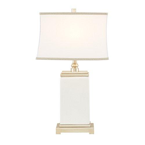 (Colette Ivory Silver Table Lamp , Transitional Antique Metal Ceramic Desk Light , 11