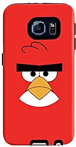 Stylizedd Samsung Galaxy S6 Premium Dual Layer Tough Case Cover Matte Finish - Red - Angry Birds