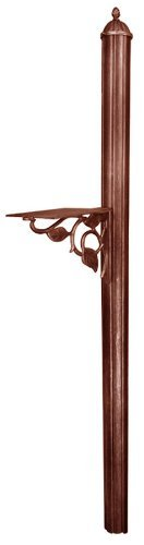 Special Lite Products SPK-651-CP Albion Burial Post and Floral Bracket, Copper ()