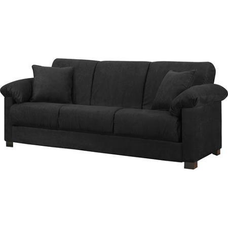 Montero Microfiber Convert A Couch Sofa Bed Black 2017