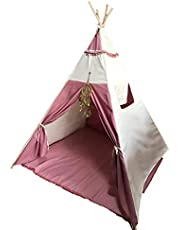 Teepee Casita Rose Gold (Con tapete) Tipi infantil para niñas o niños color aqua con atrapasueños dorado y tapete.