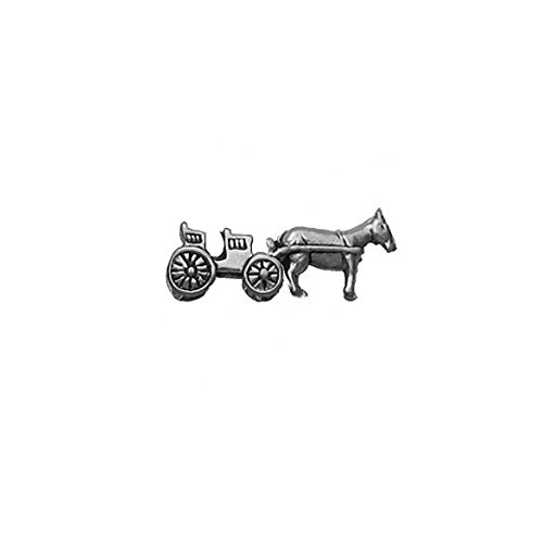 Sterling Silver 3D Open Surrey or Horse and Carriage Charm Item #455