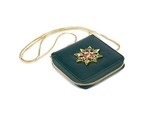 FZHLY Modo Delle Signore Shoulder Bag Messenger New Diamond Raccoglitore Della Catena
