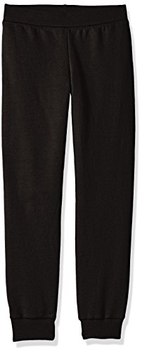 Hanes Big Girls' Comfortsoft Ecosmart Fleece Jogger Pants, Black, ()