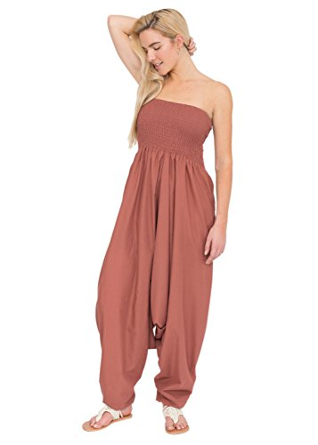 455067c7e9 2 in 1 Cotton Maxi Harem Trouser Jumpsuit. by likemary. Colour  Vieux Rose.  product-variation