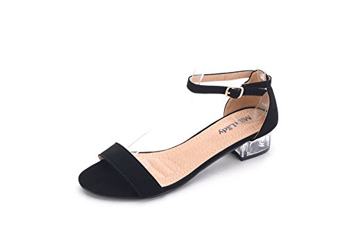 Mila Lady Backy -1 Lucite Clear Low Heels black6