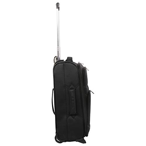 Large Capacity Maximum Allowance 22x14x9 All Parts Carry On Luggage Bag | Rolling Travel Suitcase Lightweight Small Soft Trolley for Women | Approved by Delta, United, Southwest & Many More
