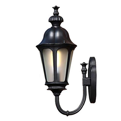 European Plum Wall Lamp, Die-Cast Aluminum Outdoor Waterproof Led Courtyard Bedroom Landscape Lights, Beautiful Decorative Lighting,Black