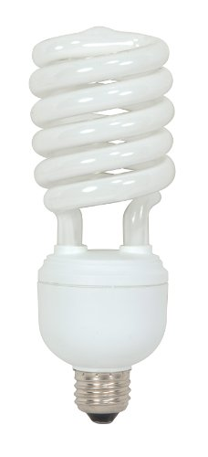 - Satco S7336 40 Watt (150 Watt) 2600 Lumens Hi-Pro Spiral CFL Daylight White 5000K Medium Base 120 Volt Light Bulb