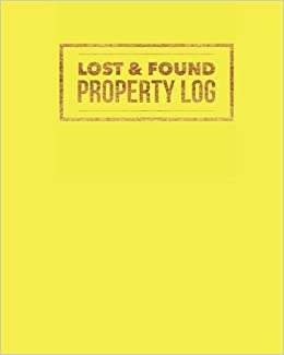 buy lost found property log yellow organizer template for all