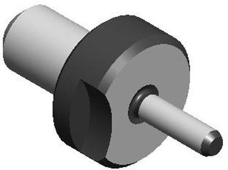 .3740 Dia. (A), 1/2 Dia. (B), Round, Slip Fit - Lock Screw Type, Locating Pin (1 Each)