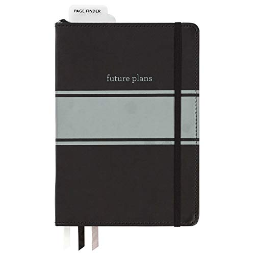 - C.R. Gibson Black Leatherette Freestyle Organizer and Planner Dot Grid Notebook, 6'' W x 8.5'' L, 240 Pages