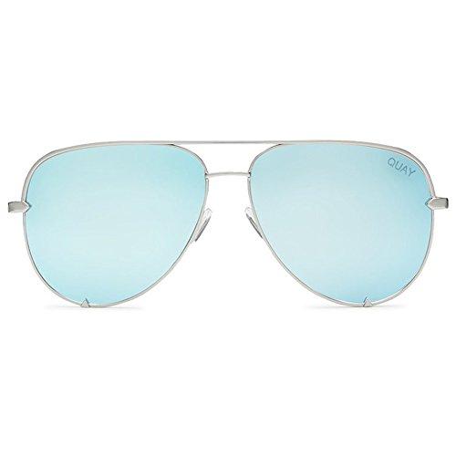 Quay High Key Sunglasses | Aviator Mirror Lens | UV - Desi Quay Sunglasses X