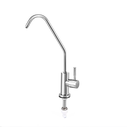 Filtered Water Kitchen Faucet (Drinking Water Filter Faucet, Faucet for Filtered Water with Lead Free Certified, Modern European Style, SUS 304 Stainless Steel Beverage Faucet)