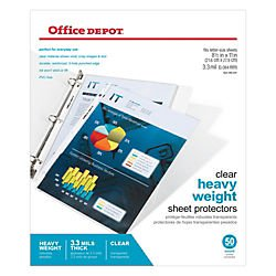 office-depot-top-loading-sheet-protectors-heavyweight-clear-pack-of-50-od03029