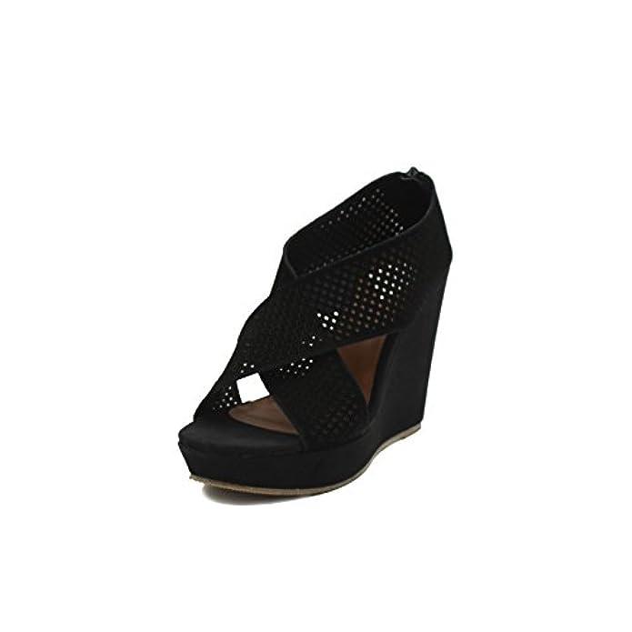Scarpe E Borse Da Donna Sandali Henry Cotton's Cottons Sandalo Zeppa Northumberl - 39 Nero