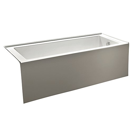 KINGSTON BRASS VTDE603122R 60-Inch Contemporary Alcove Acrylic Bathtub with Right Hand Drain and Overflow Holes , White