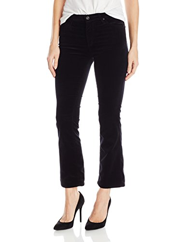 Jeans Pants Velvet (AG Adriano Goldschmied Women's Jodi Velvet Crop Jean, Super Black, 27)