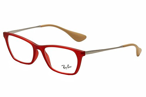 Ray Ban Optical Montures de lunettes RX7053 Rubber Black, 52mm 5525: Rubber Red