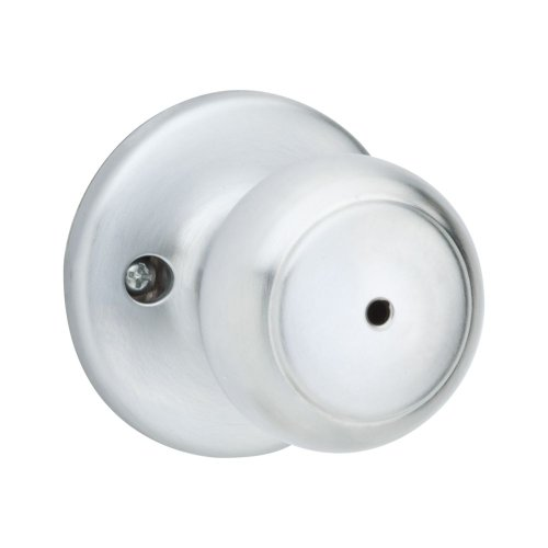 [Kwikset Cove Bed/Bath Knob in Satin Chrome] (26d Satin Chrome Knob)