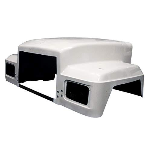 (Jones Performance Fiberglass Hood 14.5 Inch With Headlamp Buckets Inner Splash Shield Fits Mack RD)